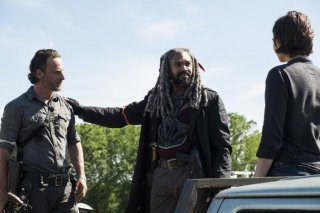 The Walking Dead: Andrew Lincoln e Khary Payton nell'episodio Mercy