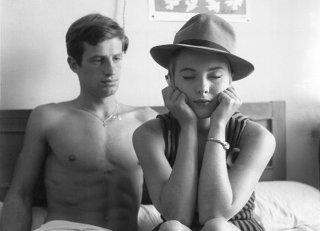 Fino all'ultimo respiro: Jean-Paul Belmondo e Jean Seberg in una scena del film
