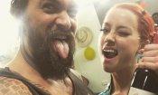 Aquaman: Jason Momoa e Amber Heard festeggiano la fine delle riprese!
