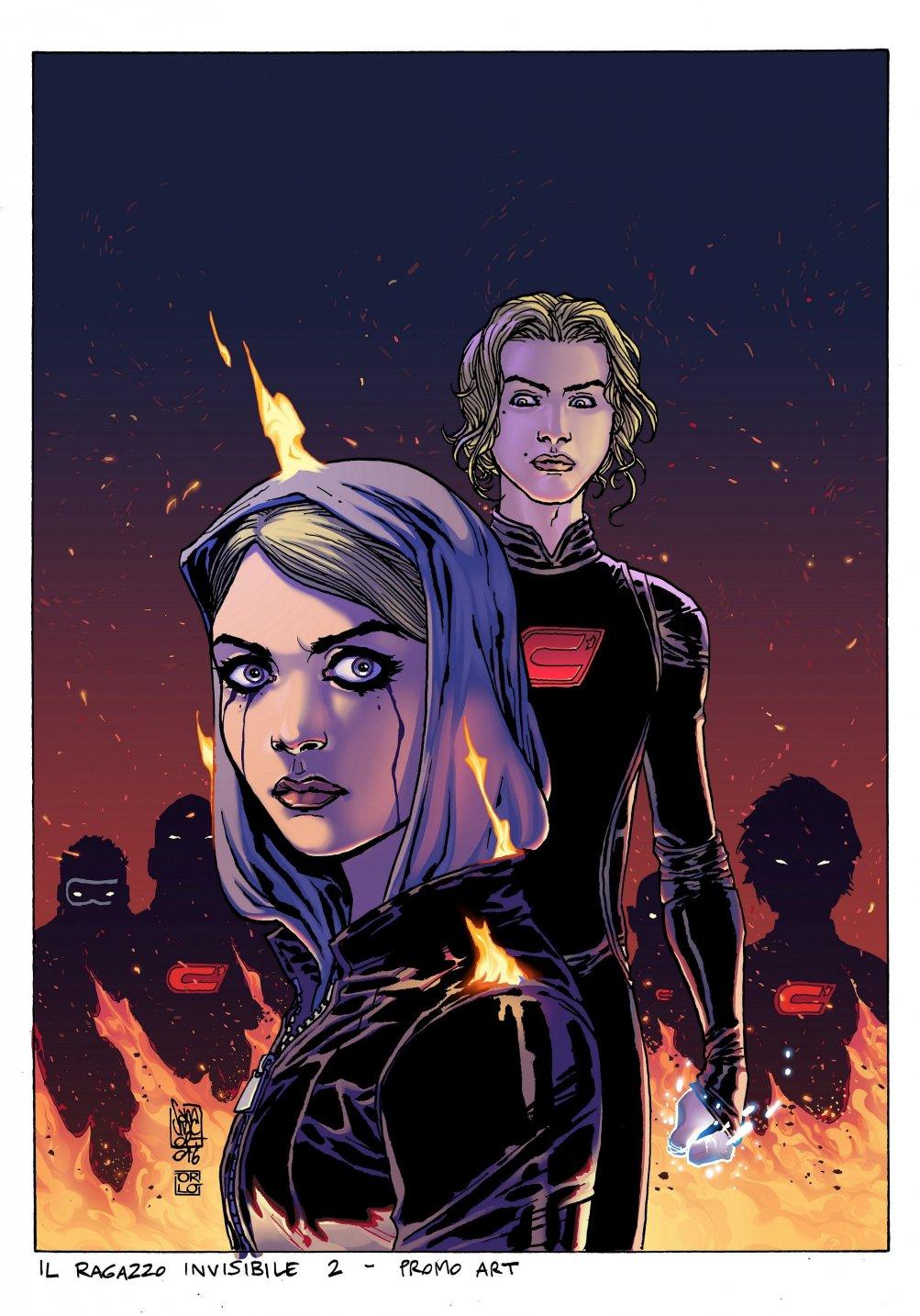 Il ragazzo invisibile - Seconda generazione: la cover della graphic novel