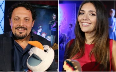 Enrico Brignano e Serena Rossi: come arginare lo stress natalizio con Olaf e Frozen
