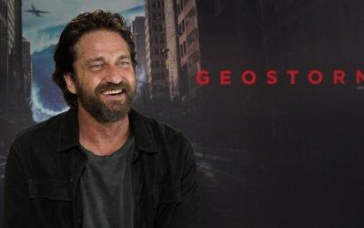 """Gerard Butler protagonista di Geostorm: """"Sono il nuovo Bruce Willis, ma con più capelli"""""""