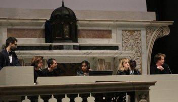 Lucca 2017: uno scatto di Natalia Dyer, Linnea Berthelsen, Charlie Heaton, Joe Keery alla manifestazione