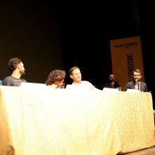 Lucca 2017: uno scatto di Sonequa Martin-Green, Jason Isaacs, Shazad Latif e Aaron Harberts al panel di Star Trekk Discovery