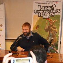 Lucca 2017: Robert Kirkman durante l'incontro con la stampa