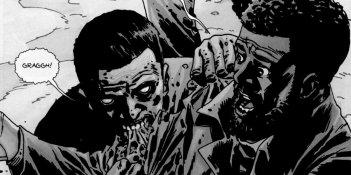 The Walking Dead: una tavola del fumetto di Robert Kirkman