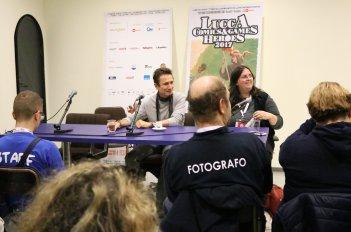 Lucca 2017: uno scatto di Dominic Keating all'incontro con la stampa