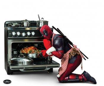 Deadpool 2: Wade Wilson cucina un tacchino