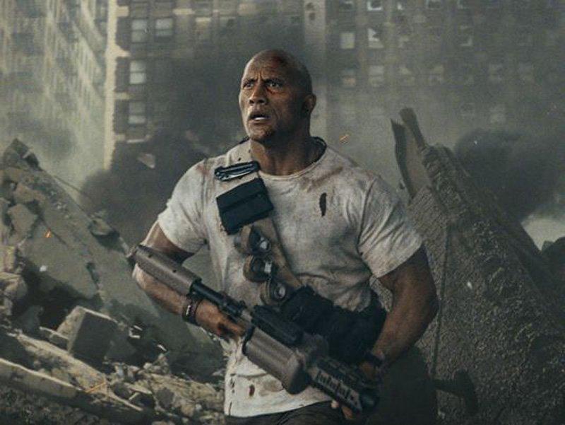 Rampage: Dwayne Johnson in una foto del film
