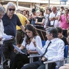 Caccia al tesoro: Serena Rossi, Vincenzo Salemme e i fratelli Vanzina sul set del film