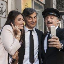Caccia al tesoro: Serena Rossi, Vincenzo Salemme e Carlo Buccirosso in un momento del film