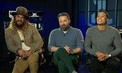 """Affleck e Momoa su Justice League: """"Batman, Aquaman e Cyborg hanno in comune problemi con le loro madri"""""""