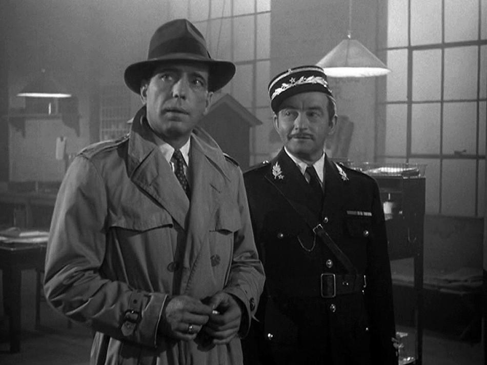 Humphrey Bogart Claude Rains Casablanca