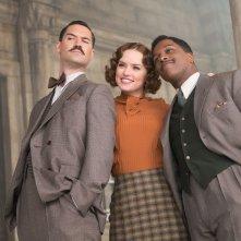 Assassinio sull'Orient Express: Manuel Garcia-Rulfo, Daisy Ridley e Leslie Odom Jr. in una foto del film