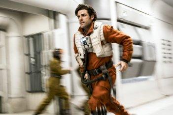Star Wars: Gli Ultimi Jedi, Oscar Isaac in una scena del film