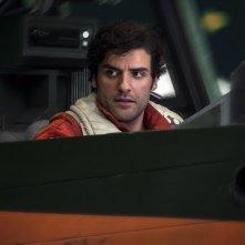 Star Wars: Gli Ultimi Jedi, Oscar Isaac in un momento del film