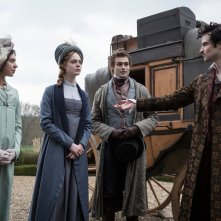 Mary Shelley: Elle Fanning, Douglas Booth, Tom Sturridge e Bel Powley in una scena del film