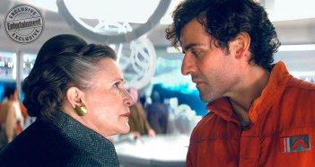 Star Wars: Gli Ultimi Jedi: Carrie Fisher a confronto con Oscar Isaac