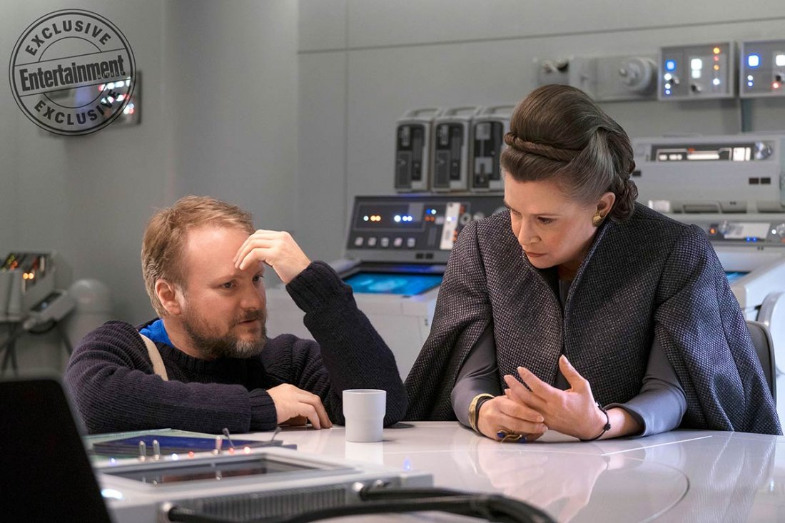Star Wars The Last Jedi Rian Johnson Carrie Fisher