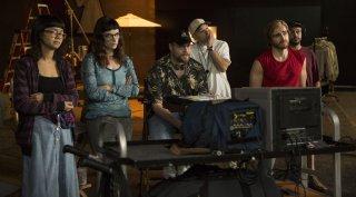 The Disaster Artist: Paul Scheer e Seth Rogen in una scena del film
