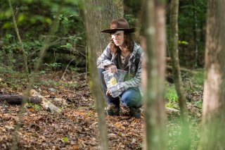 The Walking Dead: una scena con Chanderl Riggs nell'episodio The King, The Widow and Rick