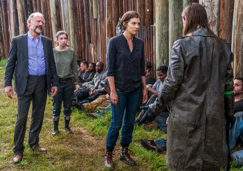 The Walking Dead: Lauren Cohan in una scena dell'episodio The King, The Widow and Rick