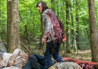 The Walking Dead: Chandler Riggs in una scena dell'episodio The King, The Widow and Rick