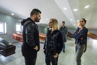Gomorra 3 - Cristina Donadio e Salvatore Esposito con Cristiana Dell'Anna (sesto episodio)