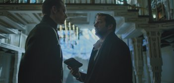 Altered Carbon: una foto di Joel Kinnaman e James Purefoy