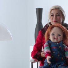 Jennifer Tilly in una scena de Il culto di Chucky