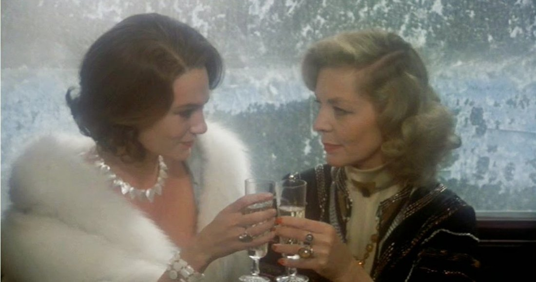 Jacqueline Bisset Lauren Bacall Murder On The Orient Express 1974
