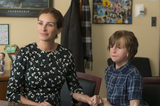 Wonder: Jacob Tremblay e Julia Roberts in una scena del film