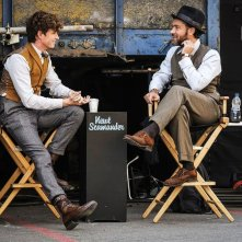Animali Fantastici: I crimini di Grindelwald, Eddie Redmayne e Jude Law sul set del film