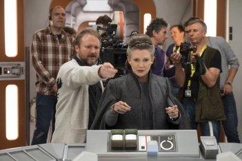 Star Wars: Gli ultimi Jedi, Carrie Fisher sul set del film
