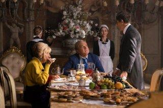 Poveri ma ricchissimi: Christian De Sica, Ubaldo Pantani e Anna Mazzamauro in una scena del film