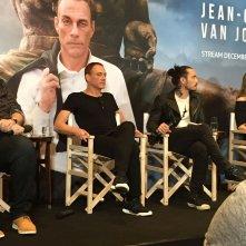 Jean-Claude Van Johnson: Jean-Claude Van Damme e e Dave Callaham in conferenza a Parigi