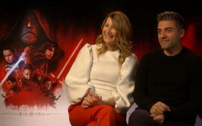 """Laura Dern e Oscar Isaac: """"Cancellare il passato è la strada per il Lato Oscuro"""""""