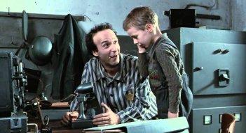 La vita è bella: Roberto Benigni col piccolo Giorgio Cantarini
