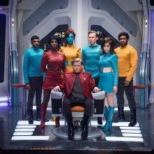 Black Mirror: Cristin Milioti, Jesse Plemons, Jimmi Simpson, Michaela Coel in una scena dell'episodio USS Callister