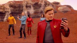 Black Mirror: Jesse Plemons in una scena dell'episodio USS Callister