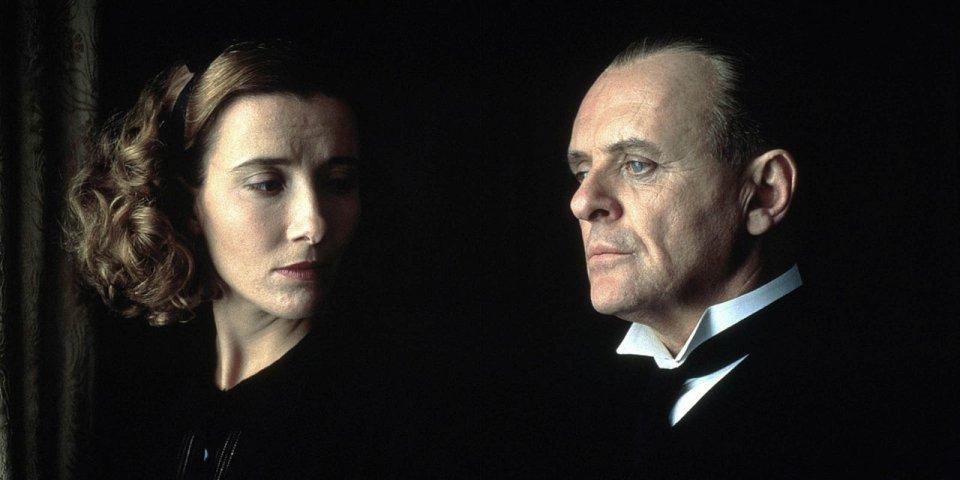 Quel che resta del giorno: Anthony Hopkins ed Emma Thompson in una scena del film