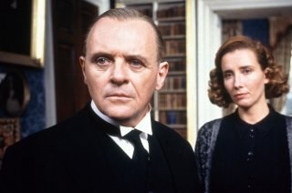Quel che resta del giorno: Anthony Hopkins ed Emma Thompson in un momento del film