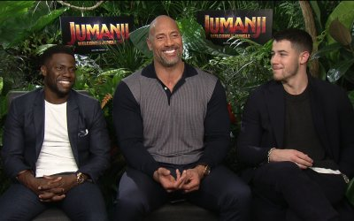 Jumanji: chi vincerebbe in una gara di ballo tra The Rock, Kevin Hart e Nick Jonas?