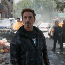 Avengers: Infinity War, Robert Downey Jr. in azione