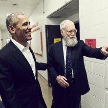 My Next Guest Needs No Introduction con David Letterman: una foto dello show con Barack Obama