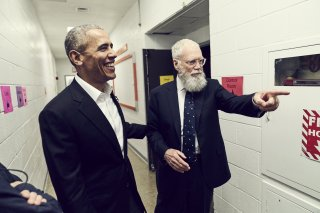 My Next Guest Needs No Introduction con David Letterman: una foto dello show con Barack Obama