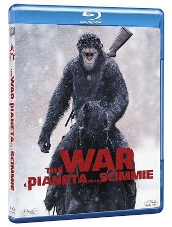 La cover del blu-ray di The War - Il pianeta delle scimmie