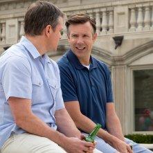 Downsizing - Vivere alla grande: Matt Damon e Jason Sudeikis in una scena del film