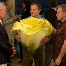 Downsizing - Vivere alla grande: Matt Damon, Christoph Waltz e Udo Kier in una scena del film