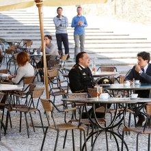 Don Matteo 11: Nino Frassica e Cristiano Caccamo in una foto della serie